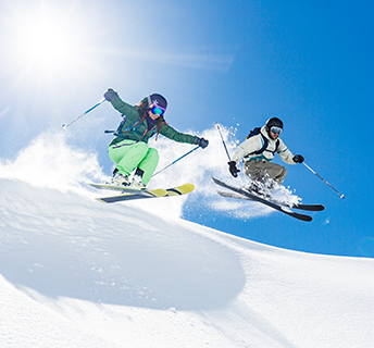 Rent demo skis and snowboards from Outpost Sunsport!